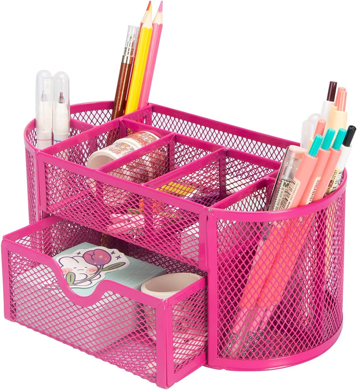 Aobopar Mesh Desk Ranking TOP17 Organizer with 9 Office Max 58% OFF Desktop Compartments