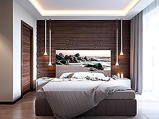 Cabecero Cama PVC Costa rocosa Playera | Varias Medidas 150x60cm | Fácil colocación | Decoración Habitación | Motivos paisajísticos | Naturaleza | Urbes | Multicolor | Diseño Elegante