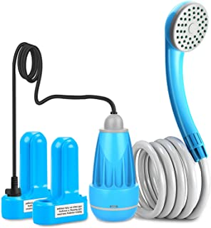 innhom Portable Shower Camping Shower Outdoor Camp Shower Pump, Electric Rechargeable Portable Camping Shower, Powered by ...