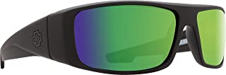 Spy Optic Logan Sunglasses with Happy Lens and Trident Polarization, Matte Black/Happy Bronze Polar with Green Spectra