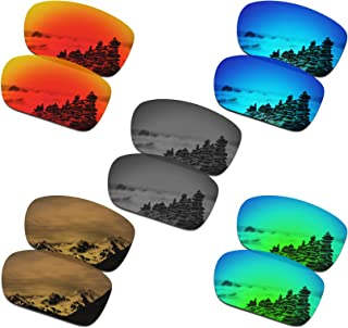SmartVLT Set of 5 Men's Replacement Lenses for Oakley Turbine Sunglass Combo Pack S02
