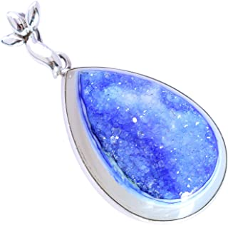 Ravishing Impressions Jewellery Druzy Gemstone FSJ-5430 - Colgante de plata de ley maciza 925