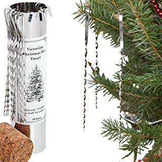 Victorian Christmas Tree Tinsel - Handmade Tin Icicles Ornaments in Canada