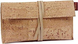 SIMARU Borsello porta tabacco in robusto sughero/cuoio di sughero, Portatabacco incl. Tasche per accendino, filtri e carti...