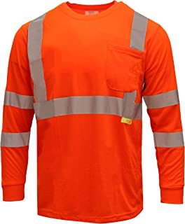 NY Hi-Viz Workwear Class 3 High Vis Reflective Long Sleeve ANSI Safety Shirt