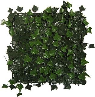 Greensmart Décor - Juego de 4 Alfombrillas de Hiedra Artificial (50,8 x 50,8 cm), Color Verde