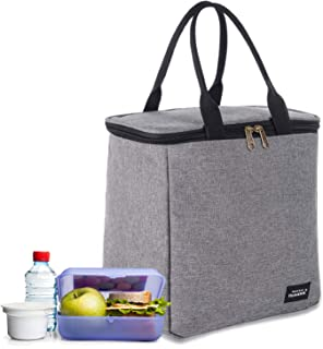Fymoon Adult Reusable Insulated Cooler Lunch Bag for Woman & Man 7L Tough Spacious Leakproof Kids Lunch Box