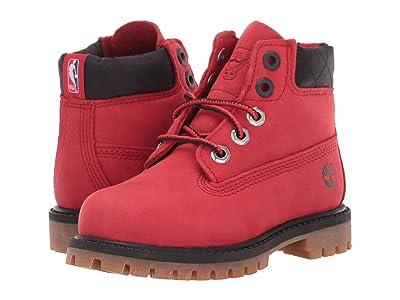Timberland Kids 6 Premium Waterproof Boot Chicago Bulls (Toddler/Little Kid) (Medium Red Nubuck) Kids Shoes