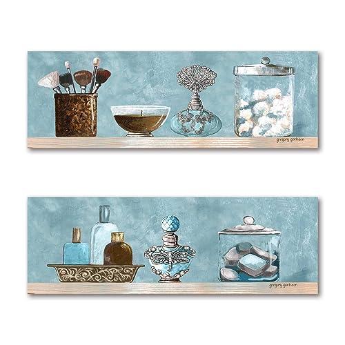 Blue And Brown Bathroom Decor Amazon Com