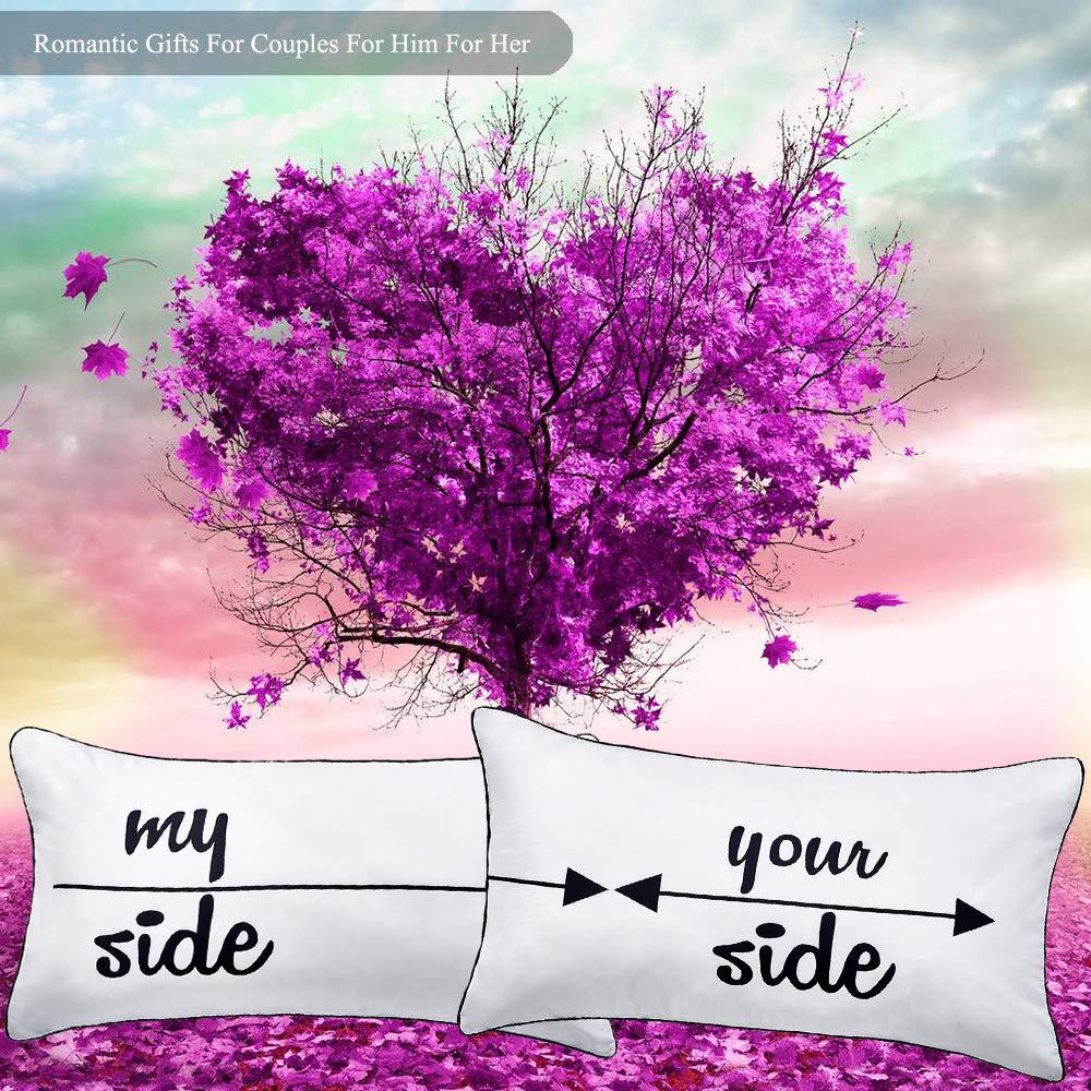sus fundas de almohada para ella,my side your side