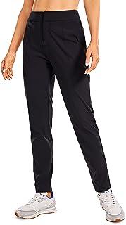 CRZ YOGA Women's Zip-Off Hiking Pants Lightweight Quick Dry Comfy Casual Pants Elastic Waist Straight Leg