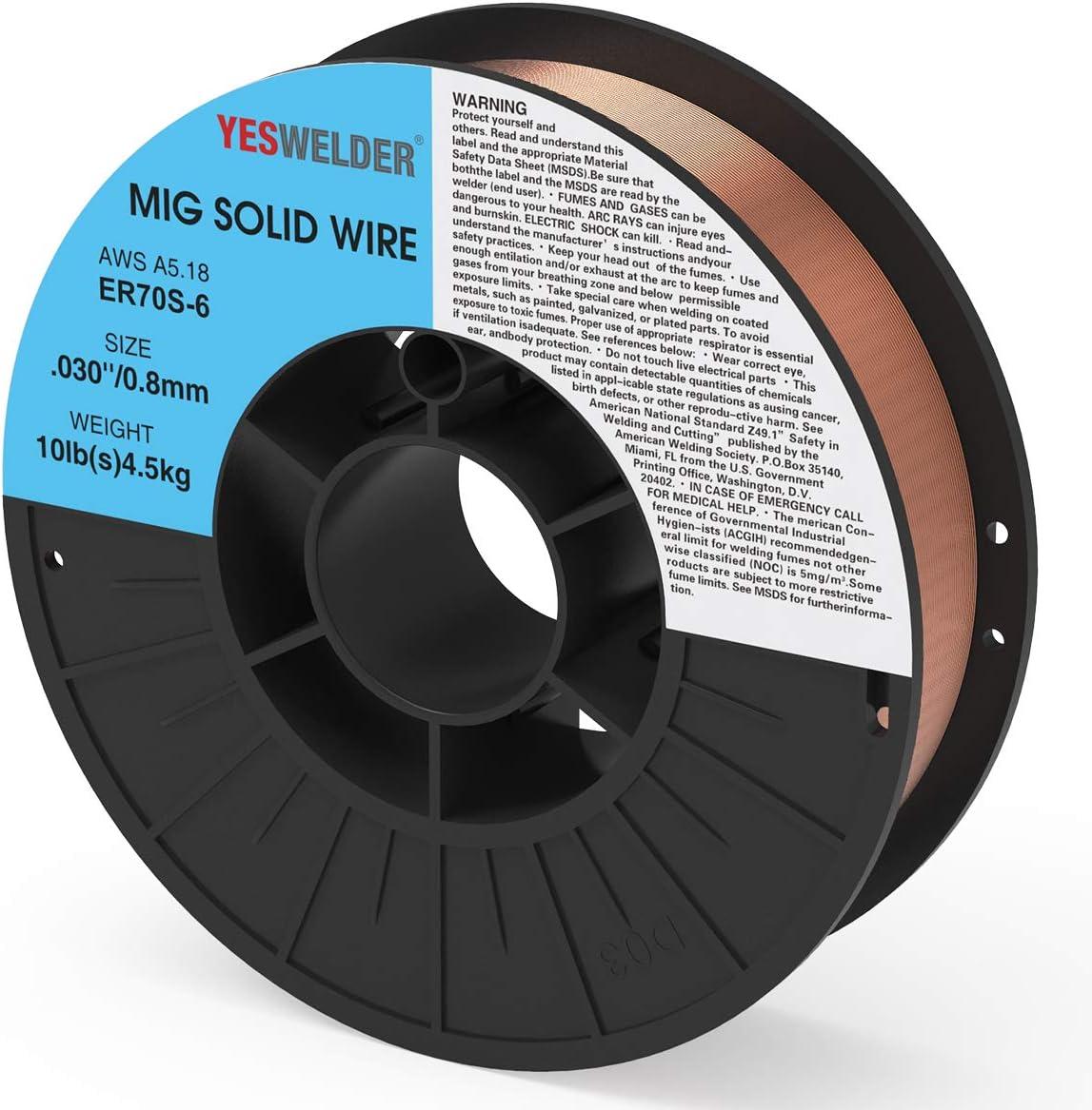 ER70S-6 2 Lb x 0.030 MIG Mild /& Low Alloy Steel Wire 2 SPOOLS