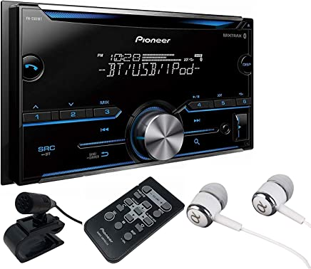 Pioneer Double DIN CD USB Aux Car Stereo Receiver Built-in Bluetooth, MIXTRAX,