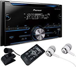 Pioneer Double DIN CD USB Aux Car Stereo Receiver Built-in Bluetooth, MIXTRAX, Android Music Support & iPhone Compatibility, Pandora & Spotify, Pioneer ARC App Compatibility with ALPHASONIK Earbuds
