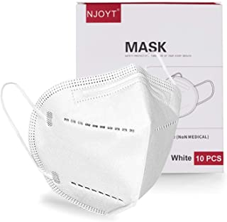 Face Mask White Disposable Face Mask 10 Pack - White Face Mask for Protection 5 Layer Non-Woven | Face Coverings for Men a...