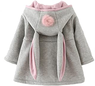 Baby Girl's Toddler Kids Fall Winter Coat Jacket Outerwear Ears Hood Hoodie