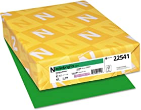 """Wausau Astrobrights(R) Recycled Bright Color Paper, 8 1/2"""" x 11"""", 24 Lb., Gamma Green, Ream Of 500 Sheets"""
