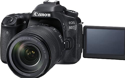 Canon EOS 80D 24.2MP Digital SLR Camera (Black) + EF-S 18-135mm f/3.5-5.6 Image Stabilization USM Lens Kit + 16GB Memory Card product image