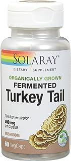 Solaray Fermented Turkey Tail Mushroom Organically Grown, Veg Cap (Btl-Plastic) 500mg | 60ct
