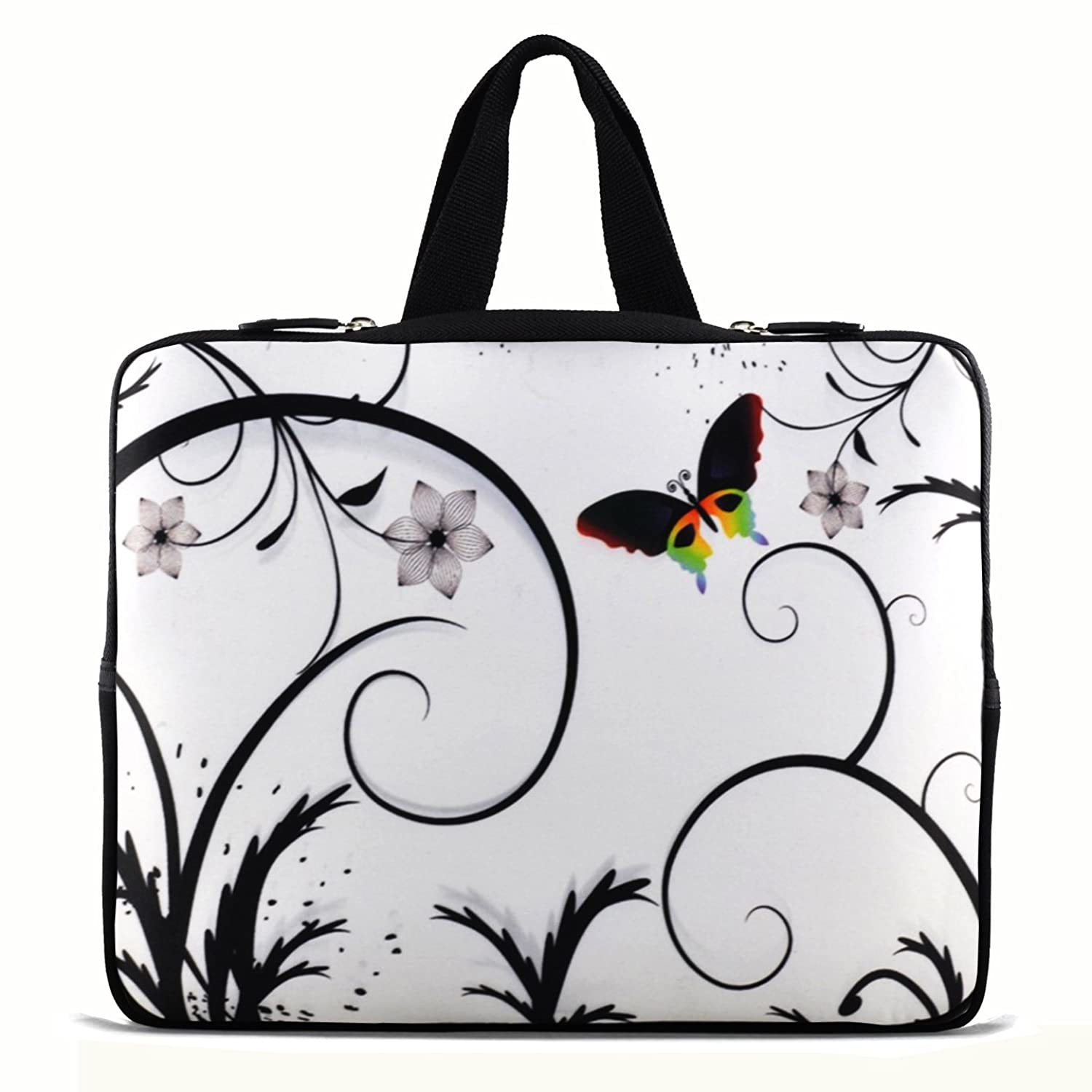 Laptop Case Sleeve Bag Cover 15-Inch 15.5-Inch 15.6-Inch Butterly ,Handle For HP DELL Sony Acer ASUS