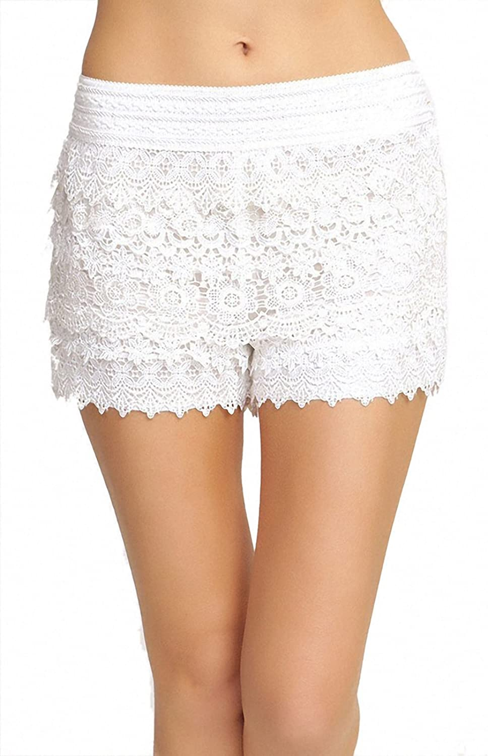 ToBeInStyle Women's Credchet Layered Shorts