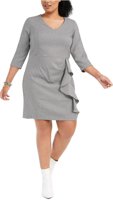 Betsey Johnson Japan Maker New Women's half Plus Size Ruff Ruched with Menswear Dress