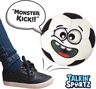 Talkin' Sports, Hilariously Interactive Toy Soccer Ball with Music and Sound FX, Gift for Soccer Loving Toddlers, Girls & Boys Ages 2 3 4 5 6 Years Old by Move2Play