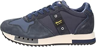 Scarpe Blauer Sneaker Running Mod. Queens in Suede/Tessuto Dark Brown uomo U21BU01