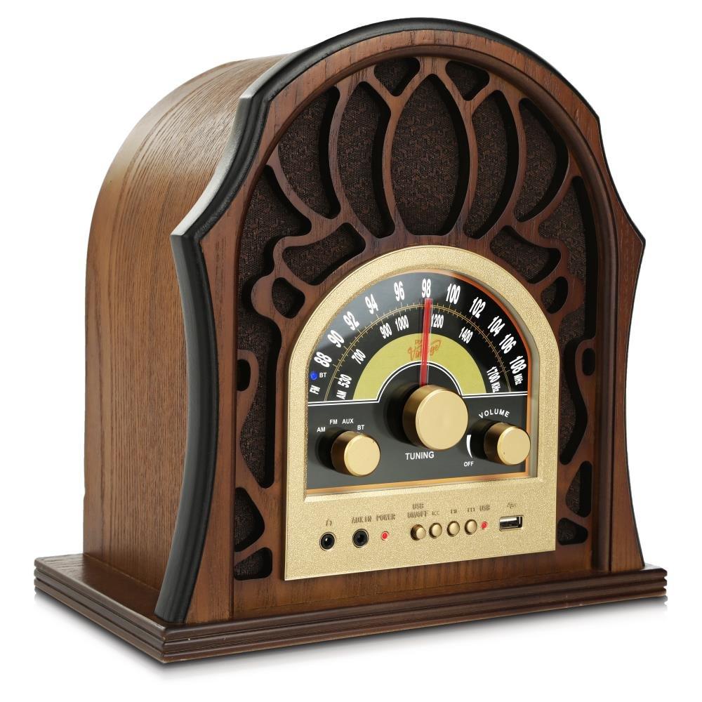 Pyle Retro Speaker Vintage Built