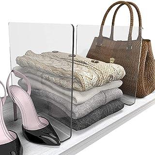 Acrylique Séparateur Armoire Vetement Séparateur Garde Robe Transparent Séparateur D'étagère Séparateur de Vêtements Pende...
