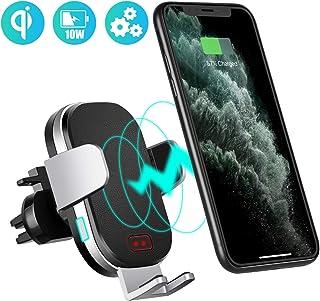 Modohe Cargador Inalambrico Coche, QI 10W Cargador Movil Carga Rapida Wireless Car Charger Soporte Movil Coche para iPhone 11 Pro Max/Xs/Samsung Note 10/S10/S9/Note 9/ Huawei P30 Pro/Mate 30Pro/xiaomi