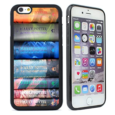 VONDER iPhone 6 Case,iPhone 6s Case, Harry Potter Books Sets Design Black Silicone Rubber Phone Case for iPhone 6S,iPhone 6 Cover