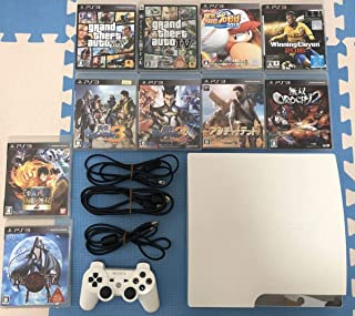 PS3 本体+ソフト10本セット CECH-2500B 320GB ホワイト 動作良好 すぐ遊べる お得