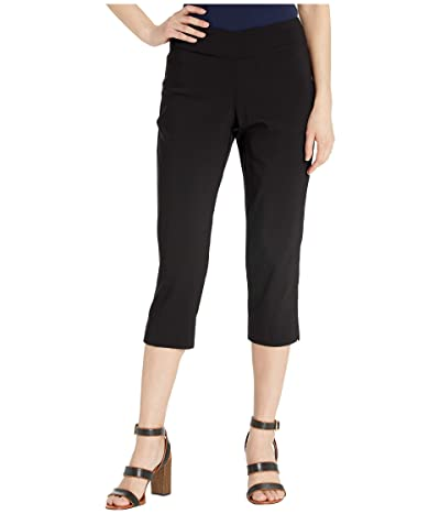 Krazy Larry Pull-On Capri Pants (Black) Women