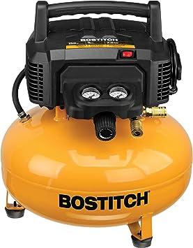 BOSTITCH Pancake Air Compressor, Oil-Free, 6 Gallon, 150 PSI (BTFP02012): image