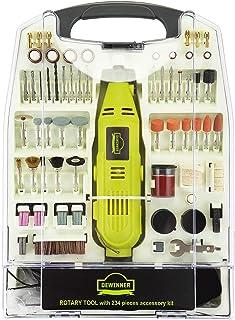DEWINNER Rotary Multi-Tool, 135W 6 Variable Speed 8000-35000 RPM, 233 pcs Accessories Mini Tool Kit Set Case, DIY Creation...
