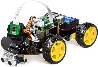 UCTRONICSラズベリーパイのロボットカーキット - リアルタイムの画像とビデオ、ライントラッキング、カメラモジュールによる障害物回避、ラインフォロワ、超音波センサーおよびアプリケーション制御