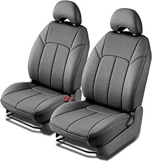 Clazzio 703621gryy Grey Leather Front Row Seat Cover for Dodge Ram 1500 Quad Cab