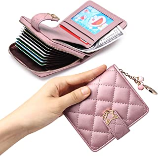 Women Leather Wallet Small Bifold Wallet Mini Wallet Card Holder Valentine's Day Gifts