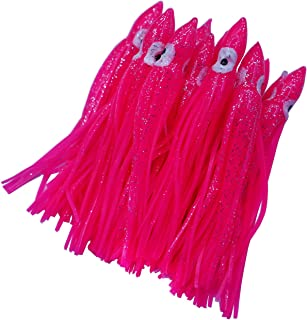 wild.life Luminous Hoochie Octopus Skirts Trolling Lures Fishing Tackle Soft Plastic Lures Squid Skirts Saltwater/Bait Lures Multicolored 1.9 '' - 12 ''(22PK