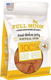product image for Full Moon All Natural Human Grade Dog Treats, Natural Cut Jerky, Sliced Chicken