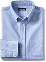 Lands' End Men's Tall Traditional Fit Buttondown Solid Sail Rigger Oxford Shirt