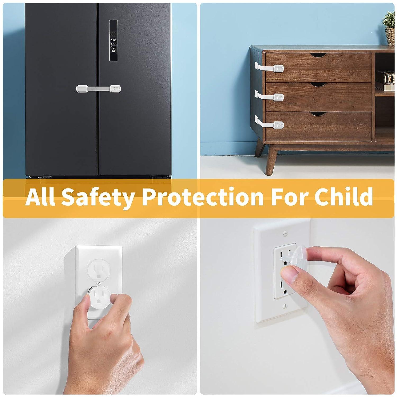 Door Knob Covers Child Proof Door Knob Lock,Door Knob Covers Babyproof,Toddler Door Knob Cover,Door Knob Locks for Kids Lockable Upgraded Design(4pcs+4pcs)