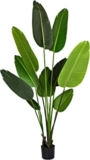 Woooow Artificial Tropical Palm Tree Fake Plant for Indoor Outdoor, Perfect Faux Plants for Home Garden Office Store Decoration