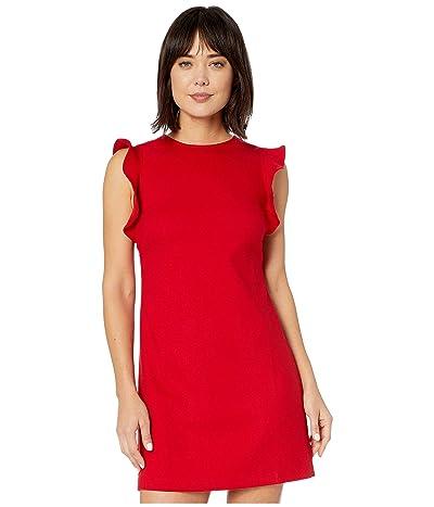 Vineyard Vines Flutter Sleeve Shift Dress (Red Velvet) Women
