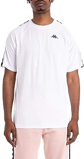 Kappa Mens 222 Banda Coen Regular Fit T-Shirt - White