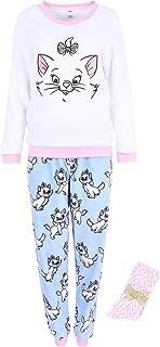 Pijama Blanco y Azul + Calcetines Gatita Marie Disney