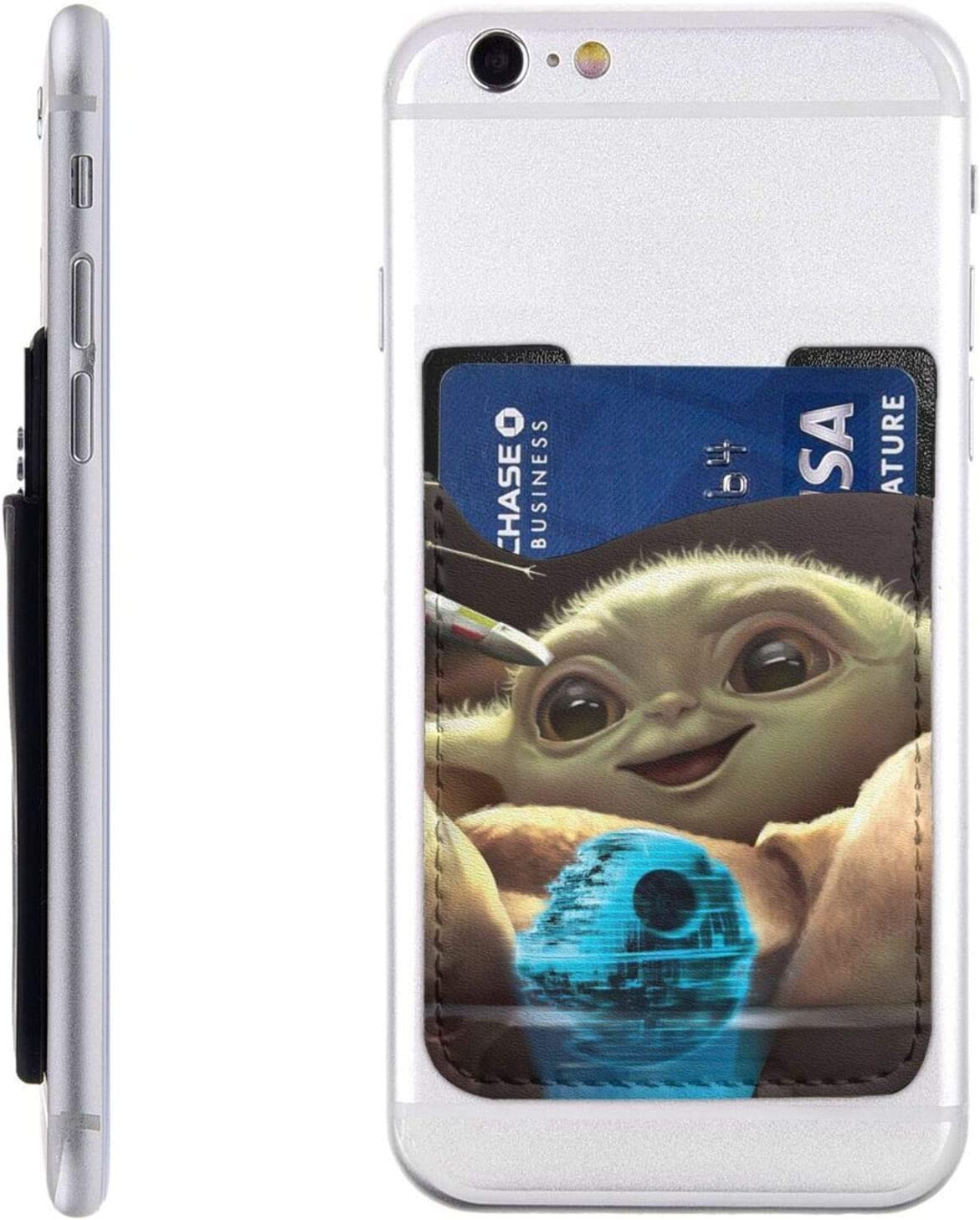 Daily bargain sale Baby-YoDa Cell Phone Max 78% OFF Card Holder Stick-On Wallet Credit Id