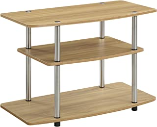 Convenience Concepts 3-Tier TV Stand, Light Oak