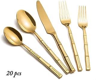 Best gold bamboo silverware Reviews